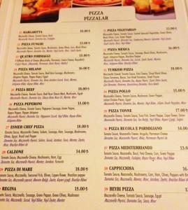 4pizza menu 269x300 Sirkecide bir İtalyan; Esmer Chef!
