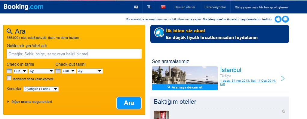 bookingcom Yeni başlayan gezginler için Booking.com !