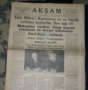 gazete Atatürkü anıyoruz! Fikirler ölmez!