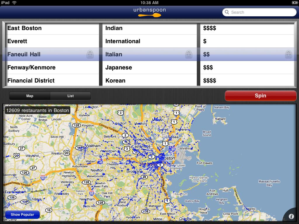urbanspoon search 1024x768 Seyahatlerde Kullanılması Gereken 4 Mobil Uygulama