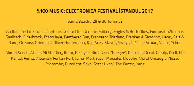 electronica festival 2017 Electronica Festival İstanbul 2017